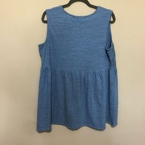 New Direction Curvy Tops - New Direction Curvy Light Blue Tank Top size 0x